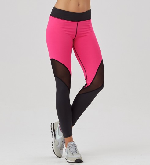 Twotone Fluo Pink tulle leggings Thumbnail 1