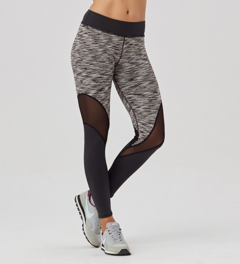 Twotone Grey Melange leggings Thumbnail 1