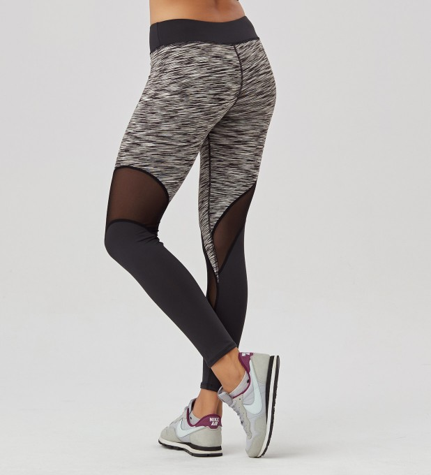 Twotone Grey Melange leggings Thumbnail 2