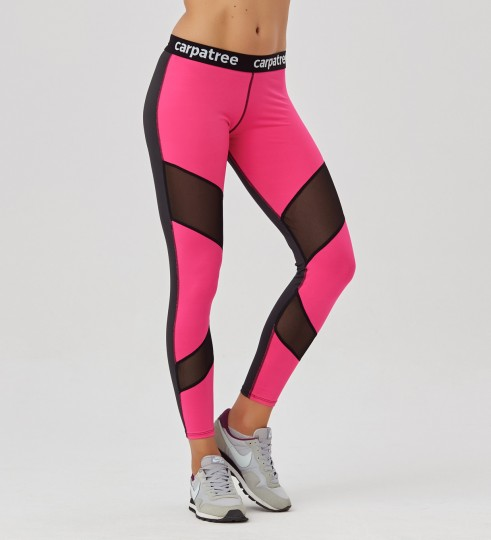 Fluo Pink Double Mesh leggings Thumbnail 1