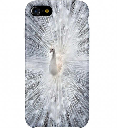White Peacock phone case Thumbnail 1