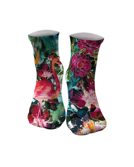 Colorful Flamingo midi socken Miniaturbild 1