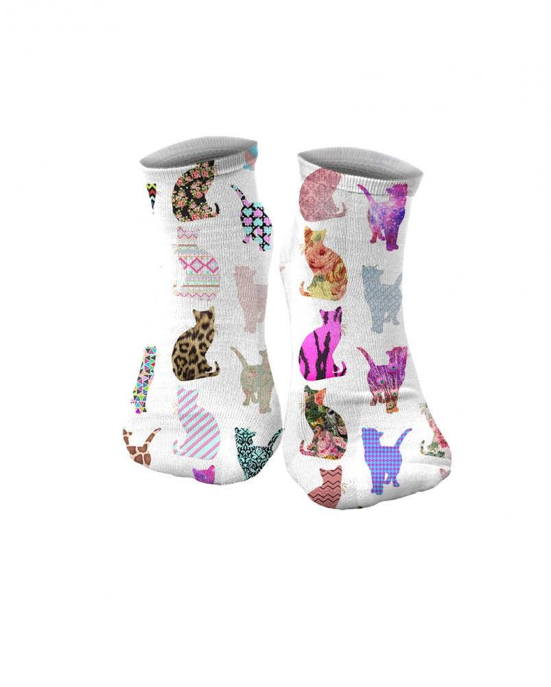 Mr. Gugu & Miss Go, Comic Cat Pattern socks Фотография $i