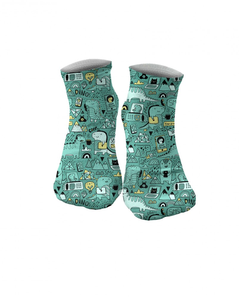 Mr. Gugu & Miss Go, Dino Tech socks Image $i