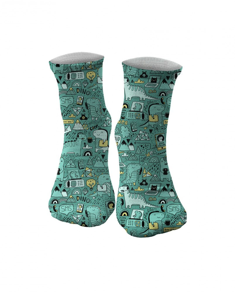 Mr. Gugu & Miss Go, Dino Tech midi socks Фотография $i