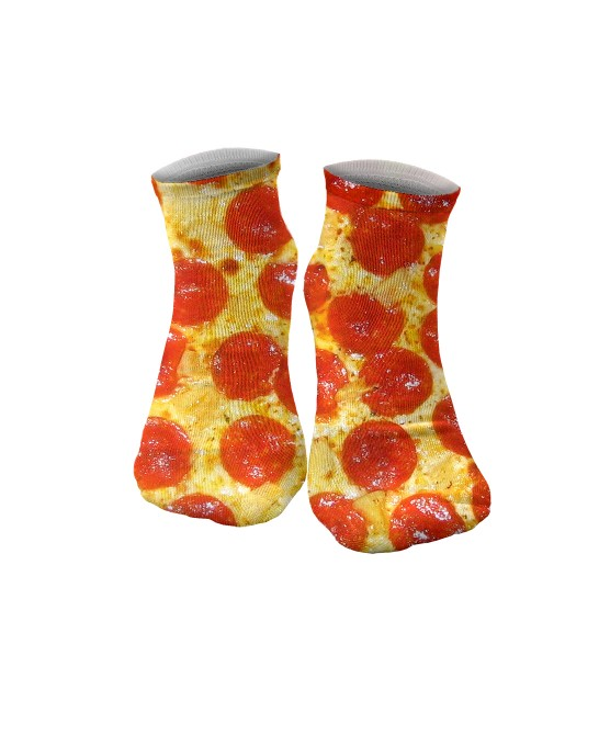 Pepperoni Pizza chaussettes Miniature 1