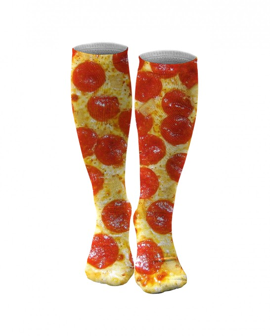 Pepperoni Pizza knee socks Thumbnail 1