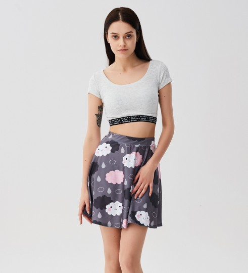Moody weather skater skirt Miniatura 1