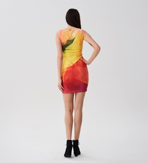 Colorful Geometric simple dress Thumbnail 2