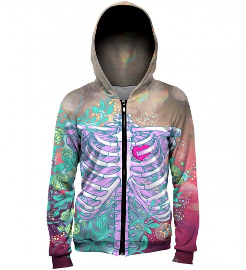 Heart in chest hoodie Thumbnail 2