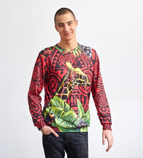 Red Giraffe sweater Thumbnail 1