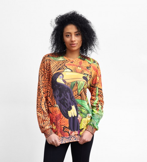 Orange Tucan sweater Thumbnail 1