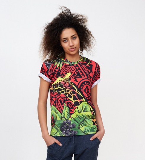 T-shirt Red Giraffe Miniatury 1