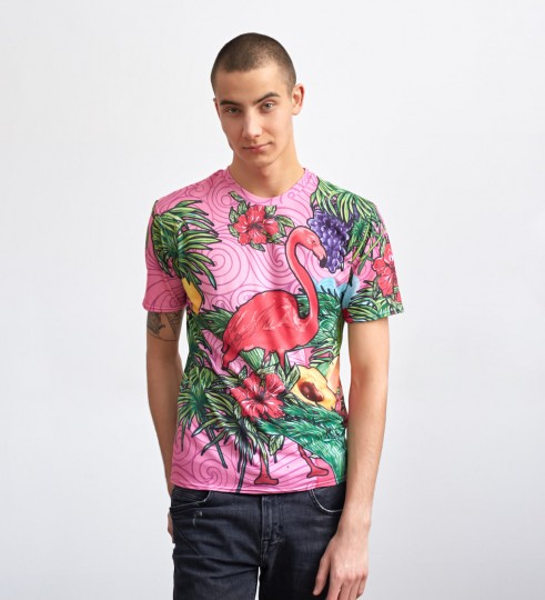 Pink Flamingo t-shirt Miniature 1
