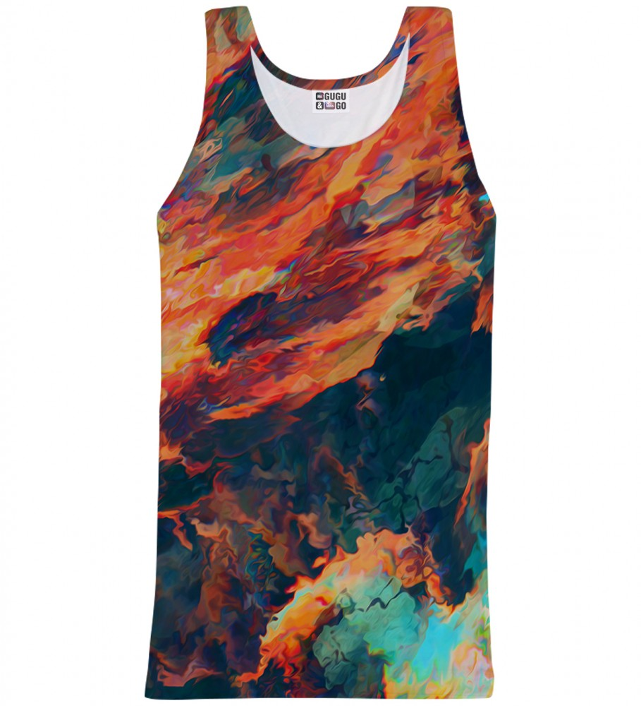 Mr. Gugu & Miss Go, Sky is burning tank-top Image $i