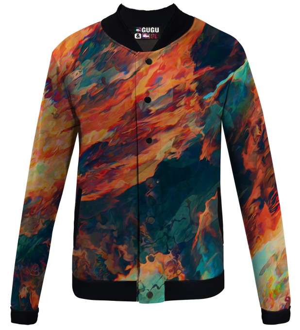 Sky is burning veste de baseball Miniature 1