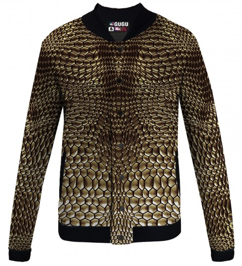 Golden armor baseball jacket Thumbnail 1