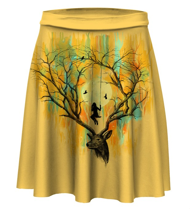 Deer Fantasies Skater Skirt Miniature 1