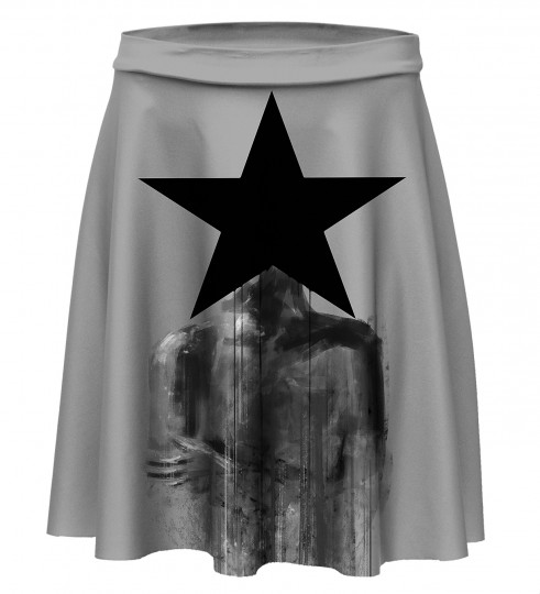 Black Star Skater Skirt Miniatura 1