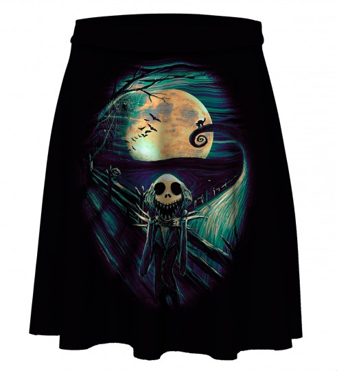 Skellington Skater Skirt Miniatura 1