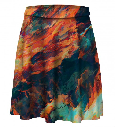 Sky is burning Skater Skirt Miniatura 1