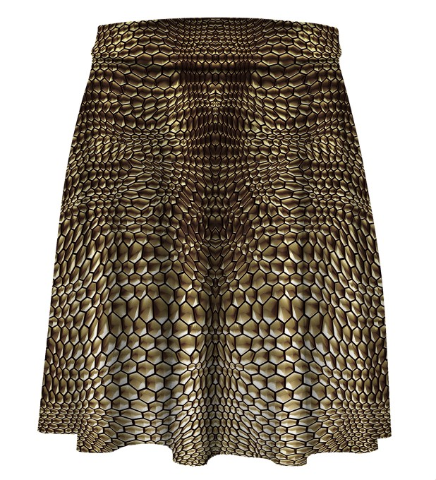Golden armor Skater Skirt Miniature 1