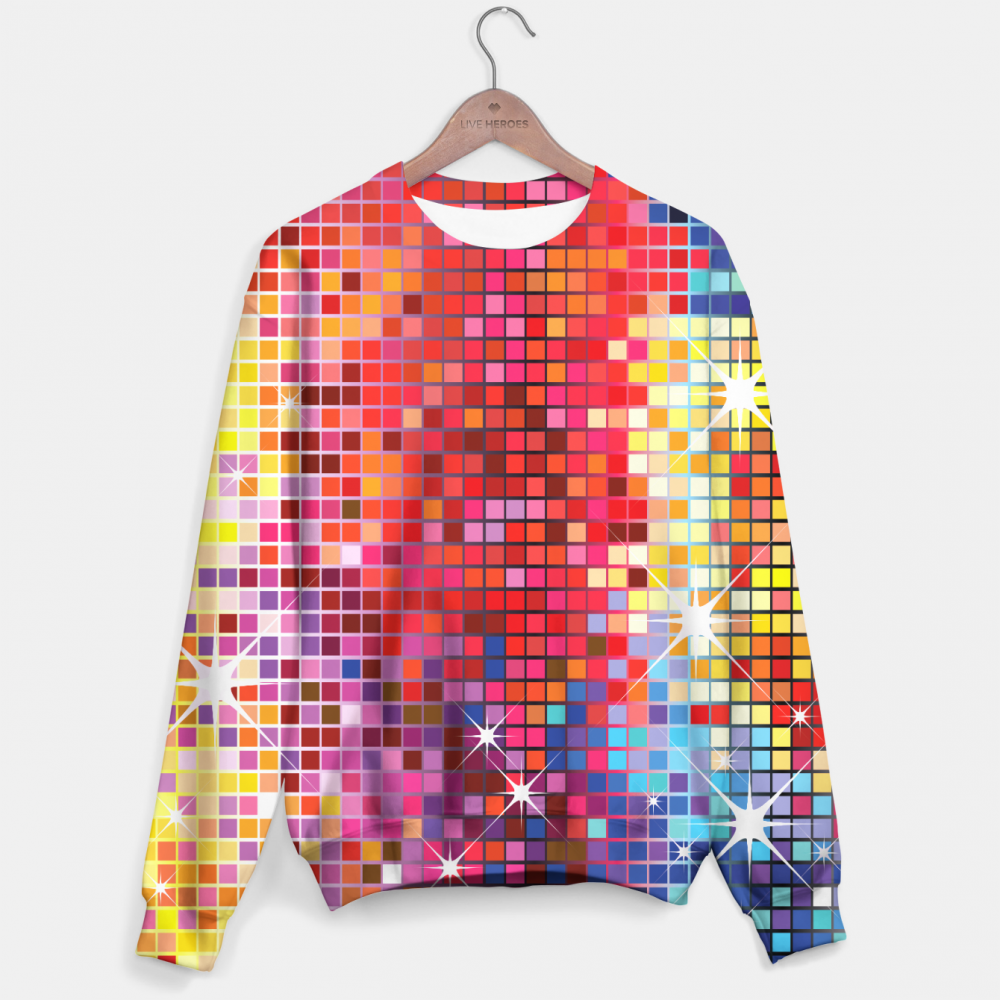 Mr. Gugu & Miss Go, Funny Colorful Bling Pattern sweater Image $i