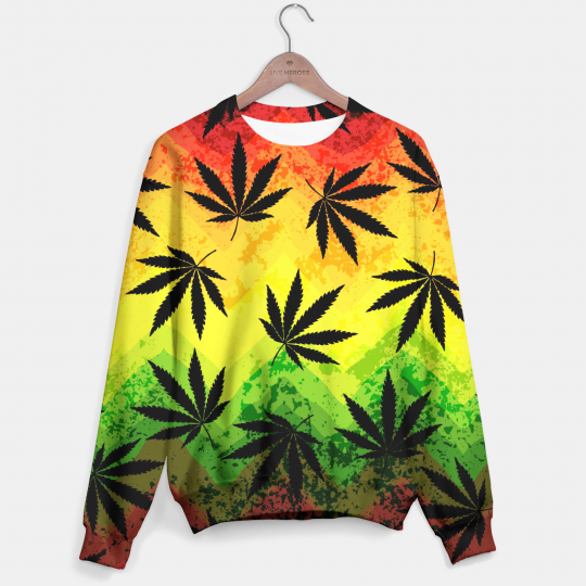 Colorful Marijuana sweater Miniatura 1