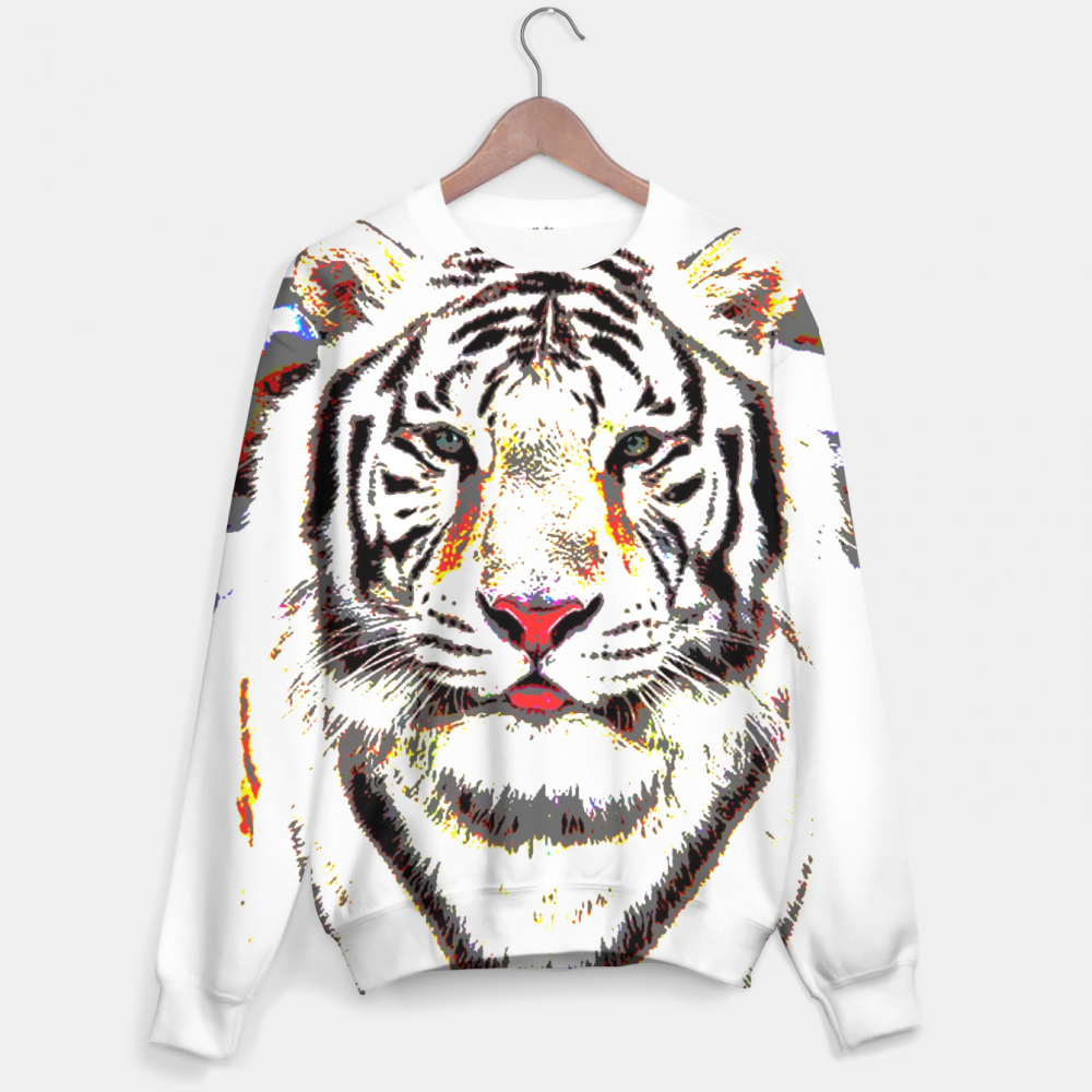 Mr. Gugu & Miss Go, White Tiger sweater Image $i