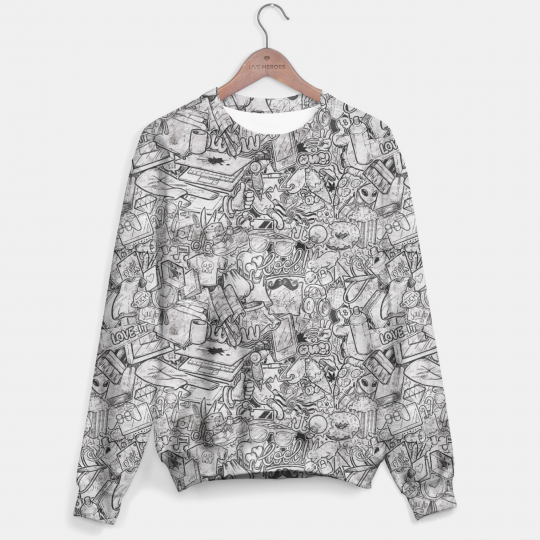 Doodleffiti sweater Miniatura 1
