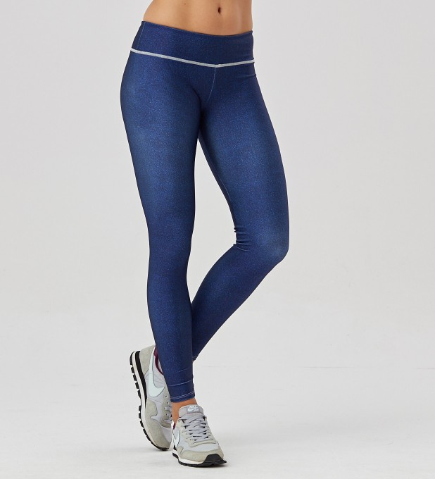 Blue denim leggings Thumbnail 1