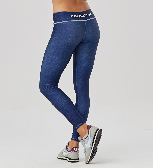 Blue denim leggings Thumbnail 2