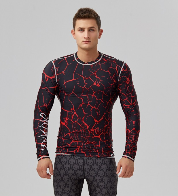 Rashguard Black cracks  Miniatury 1