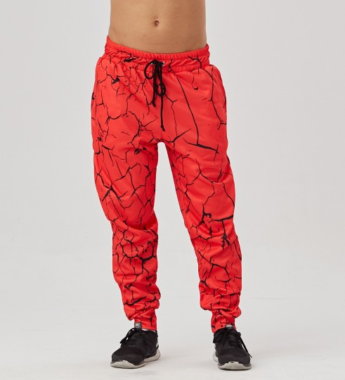 Red Cracks men's joggers Thumbnail 1