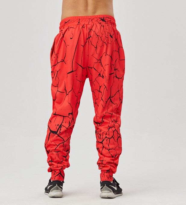 Red Cracks men's joggers Miniature 2
