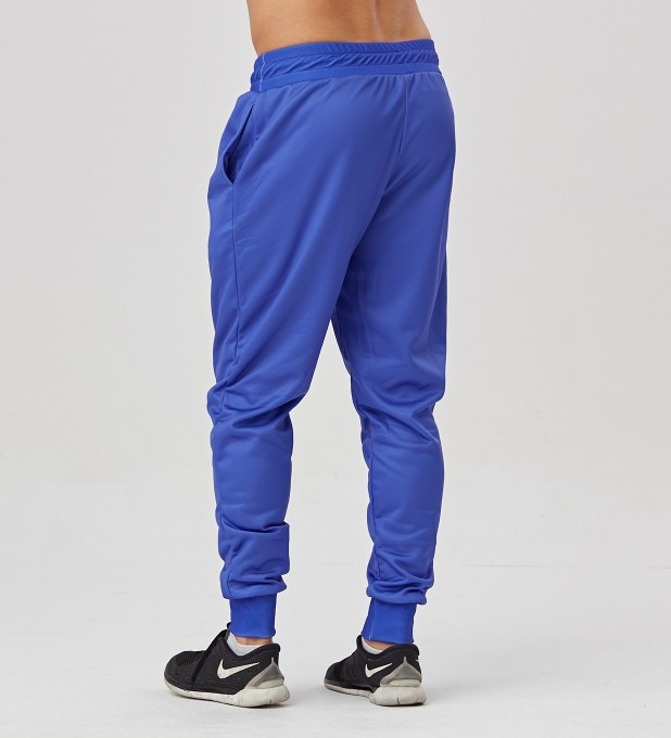 Electric Blue men's joggers Miniature 2
