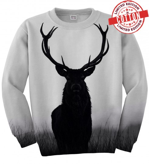 Wild deer cotton sweater Miniature 1