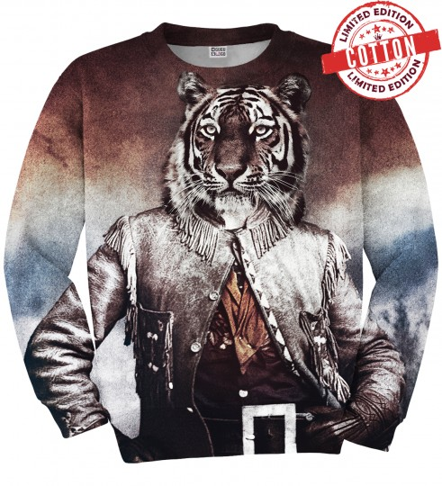 Colonel tiger cotton sweater Thumbnail 1