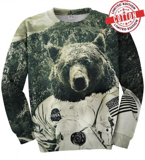 NASA Bear cotton sweater Miniature 1