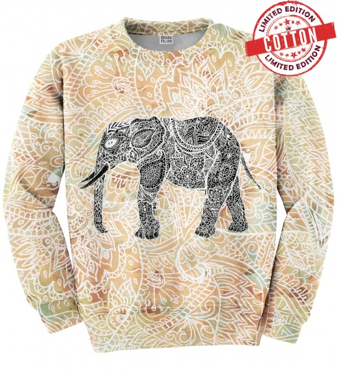 Indian Elephant cotton sweater Miniature 1