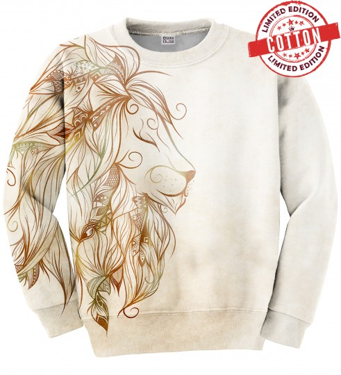 Golden Lion cotton sweater Miniature 1