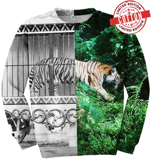 Tiger Cage cotton sweater Thumbnail 1