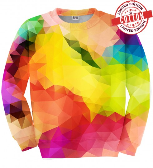 Colorful Geometric cotton sweater Miniature 1