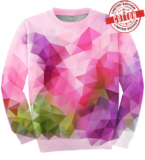 Violet geometric cotton sweater Miniature 1
