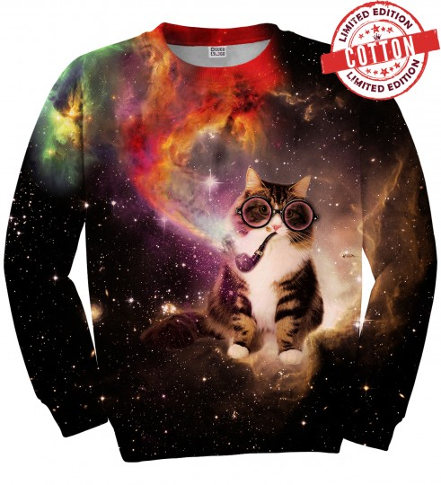 Spacepipe Nebula cotton sweater Miniature 1