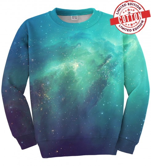 Blue Nebula cotton sweater Miniature 1