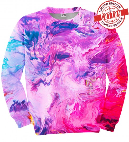 Modern Painting cotton sweater Thumbnail 1