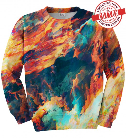 Sky is burning cotton sweater Thumbnail 1