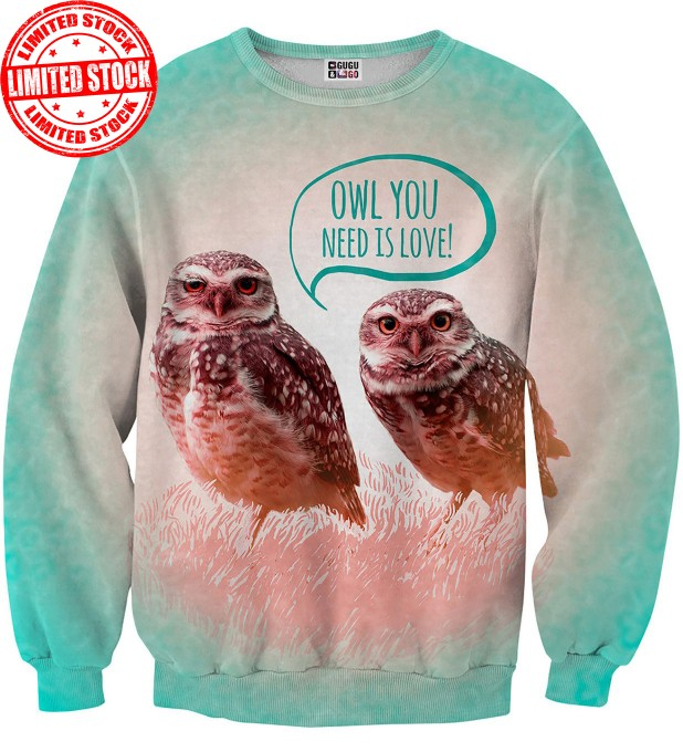 Owl love sweater Thumbnail 1