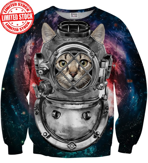 Astronaut cat sweater Miniature 1